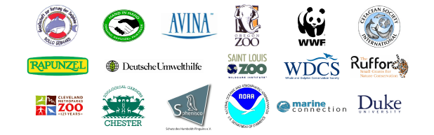 WDCS / WWF - Perú / CSI / Marine Connection / AVINA / Oregon Zoo / Saint Louis Zoo / Cleveland Zoo / Rufford Small Grants / GRD / Rapunzel / Hand to Hand / DUH / Chester Zoo / NOAA / Sphenisco / Duke