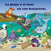 Rompecabeza La playa y el mar no son basureros
